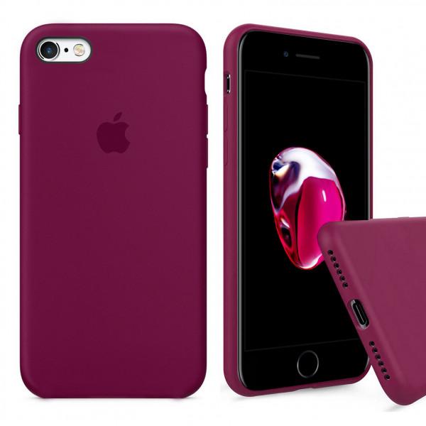 Чехол Silicone Case Full для iPhone 6 / 6s (Rose Red)