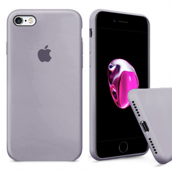 Чехол Silicone Case Full для iPhone 6 / 6s (Lavender)
