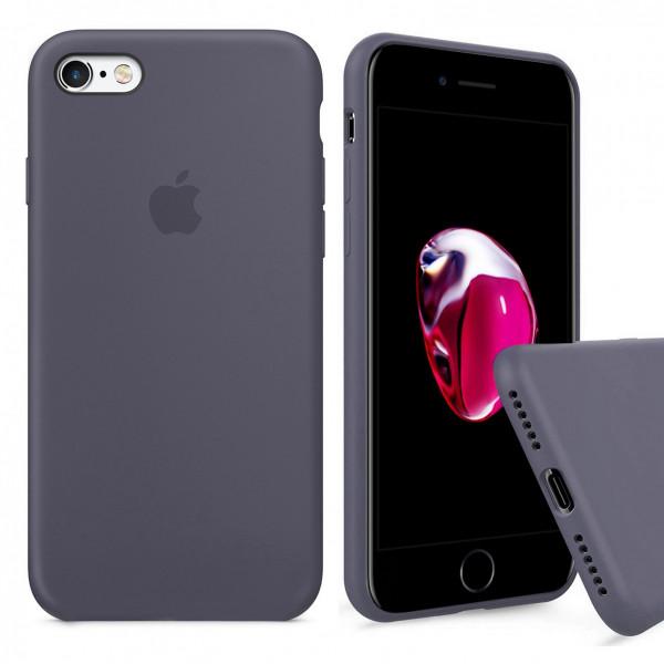 Чехол Silicone Case Full для iPhone 6 / 6s (Lavender Gray)