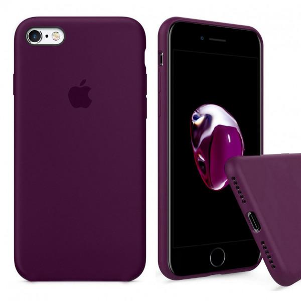 Чехол Silicone Case Full для iPhone 6 / 6s (Marsala)
