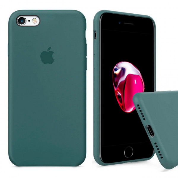 Чехол Silicone Case Full для iPhone 6 / 6s (Pine Green)