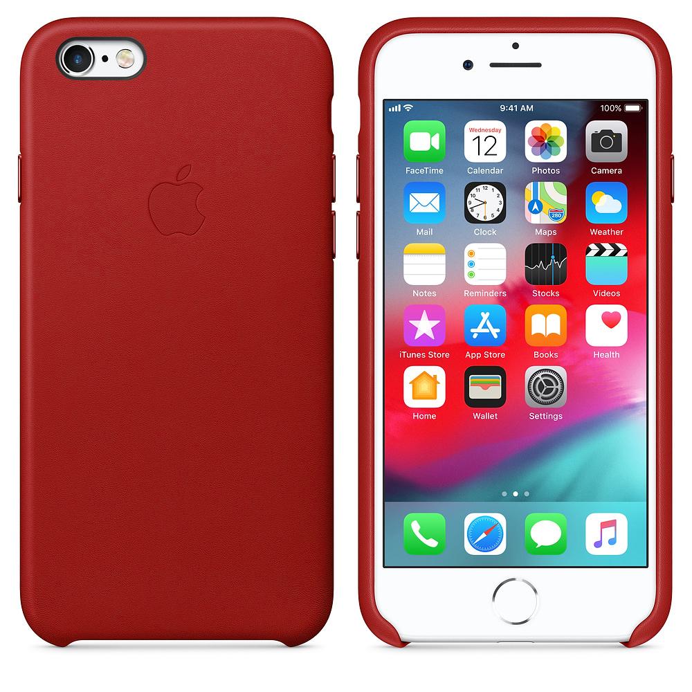 Чехол Good Leather Case для iPhone 6 / 6s (Red)