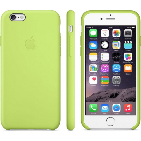 Чехол Silicone Case для iPhone 6/6s (Lime Green) OEM