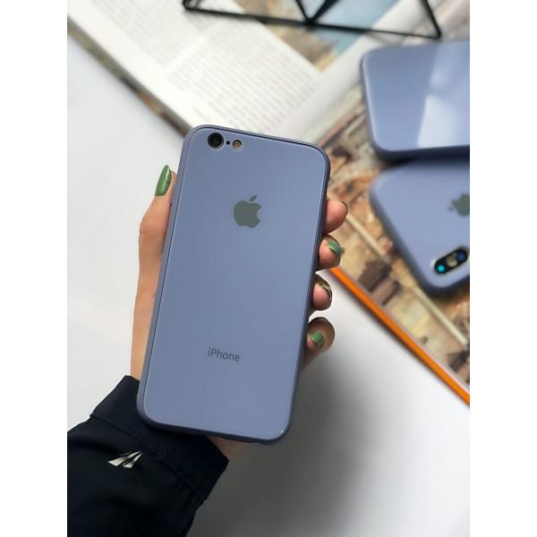 Чехол Glass Pastel color Logo для iPhone 6 / 6s (Lavender Gray)