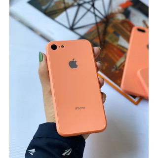 Чехол Glass Pastel color Logo для iPhone 6 / 6s (Peach)