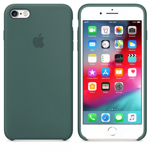 Чехол Silicone Case для iPhone 6/6s (Pine Green) OEM