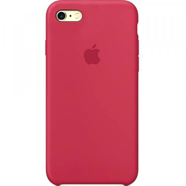 Чехол Silicone Case для iPhone 6/6s (Rose Red) OEM
