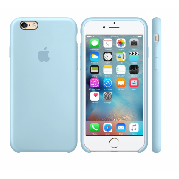 Чехол Silicone Case для iPhone 6/6s (Sky Blue) OEM