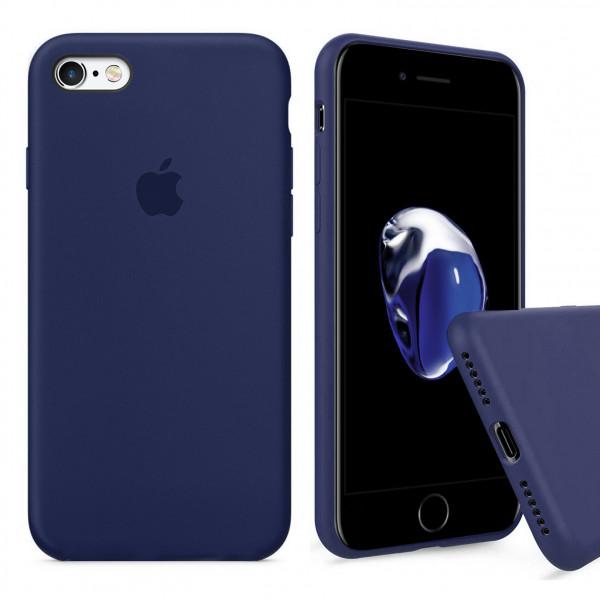 Чехол Silicone Case Full для iPhone 6 Plus / 6s Plus (Midnight Blue)