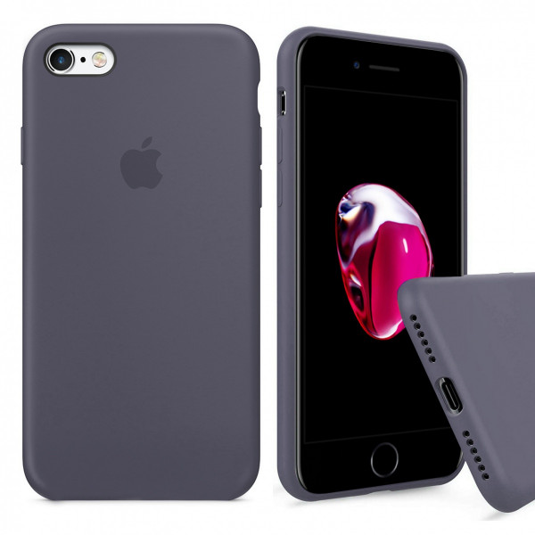Чехол Silicone Case Full iPhone 6 Plus / 6s Plus (Lavender Gray)