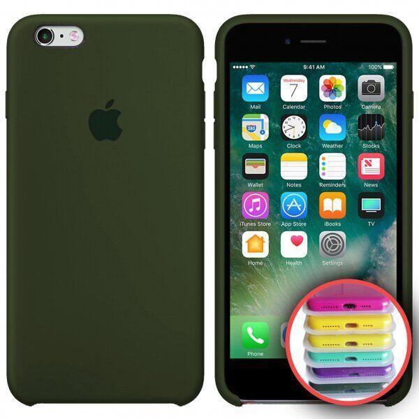 Чехол Silicone Case Full для iPhone 6 Plus / 6s Plus (Virid)