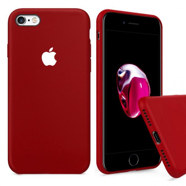 Чехол Silicone Case Full для iPhone 6 Plus / 6s Plus (Camellia White)