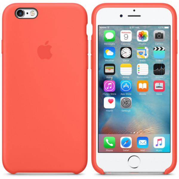 Чехол Silicone Case Full для iPhone 6 Plus / 6s Plus (Coral)