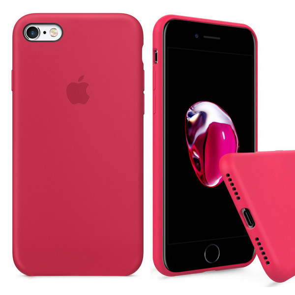 Чехол Silicone Case Full для iPhone 6 Plus / 6s Plus (Red Raspberry)