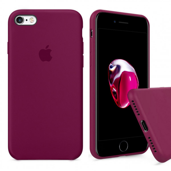 Чехол Silicone Case Full для iPhone 6 Plus / 6s Plus (Rose Red)