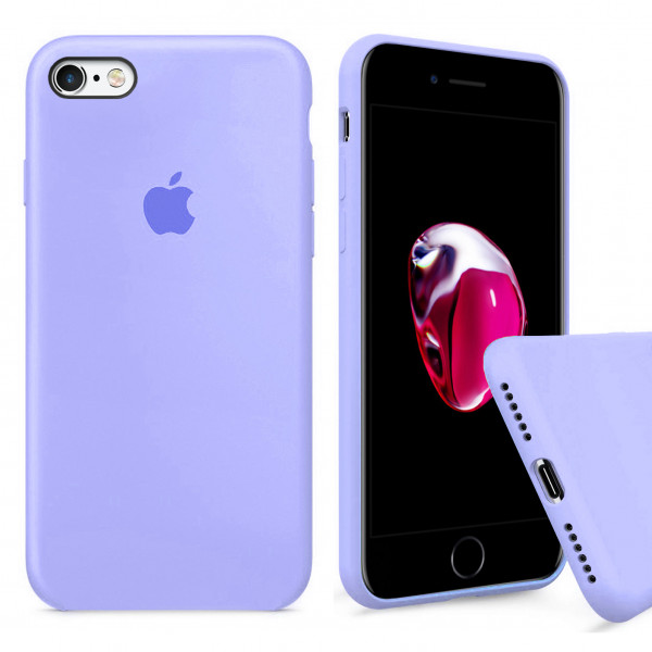 Чехол Silicone Case Full для iPhone 6 Plus / 6s Plus (Lilac Cream)