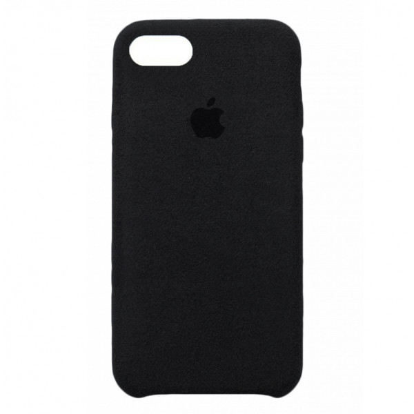 Замшевый чехол на iPhone 7 / 8 / SE (2020) Alcantara (Black)