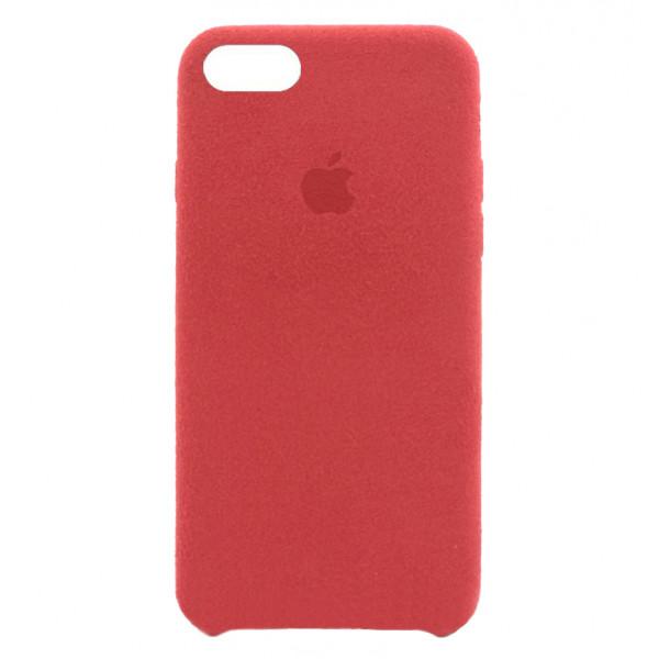Замшевый чехол на iPhone 7 / 8 / SE (2020) Alcantara (Red)