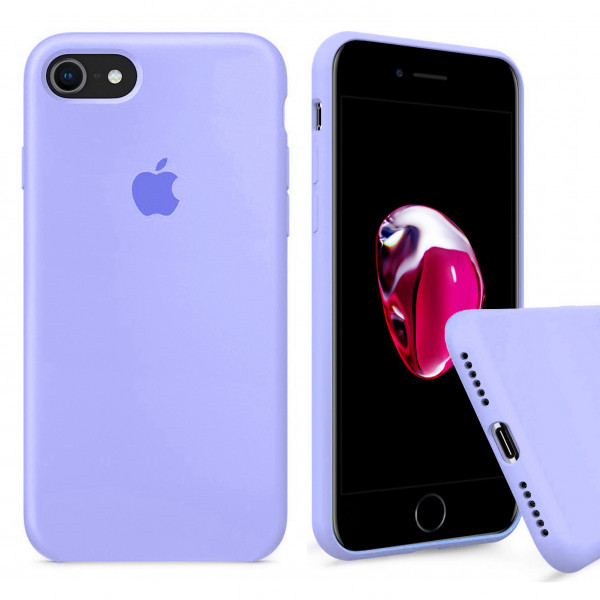 Чехол Silicone Case Full на iPhone 7 / 8 / SE (2020) (Lilac Cream)