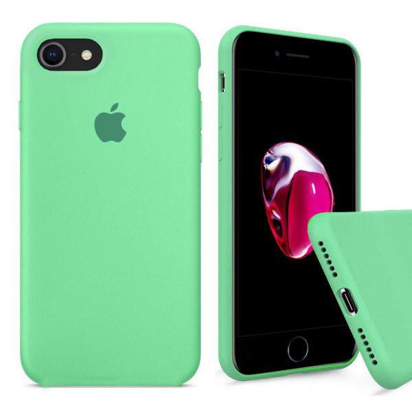 Чехол Silicone Case Full на iPhone 7 / 8 / SE (2020) (Spearmint)