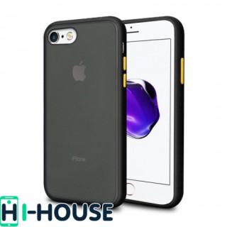 Чехол Gingle Series Case на iPhone 7 / 8 / SE (2020) (Black Yellow)