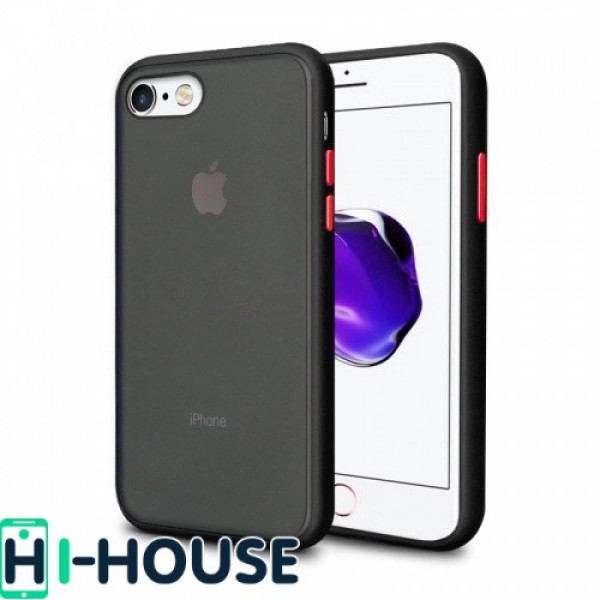 Чехол Gingle Series Case на iPhone 7 / 8 / SE (2020) (Black Red)