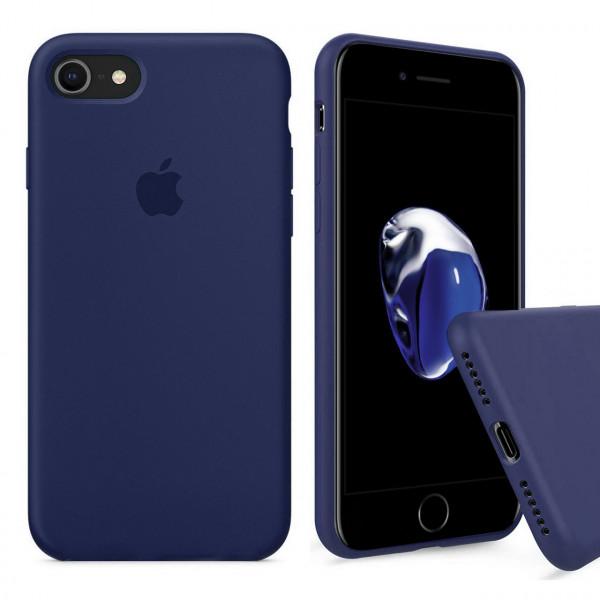Чехол Silicone Case Full на iPhone 7 / 8 / SE (2020) (Midnight Blue)