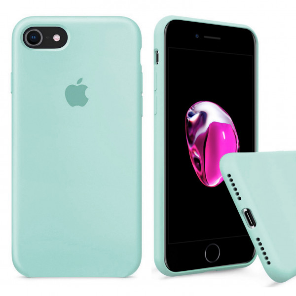 Чехол Silicone Case Full на iPhone 7 / 8 / SE (2020) (Mint)