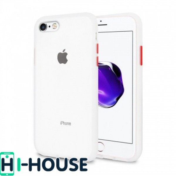 Чехол Gingle Series Case на iPhone 7 / 8 / SE (2020) (Transparent Red)