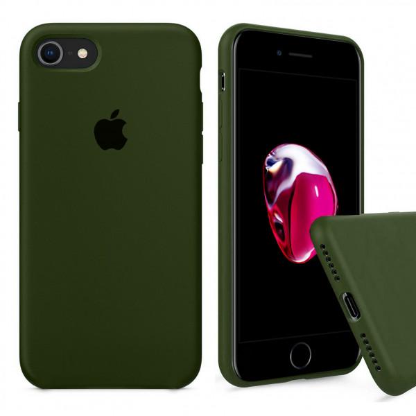 Чехол Silicone Case Full на iPhone 7 / 8 / SE (2020) (Oliva)