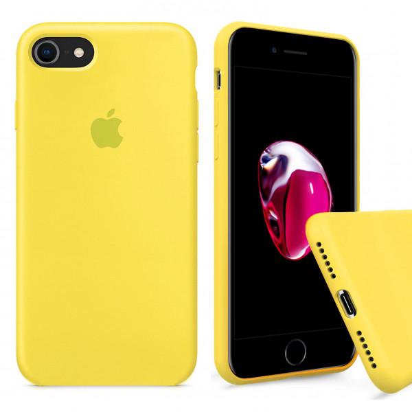 Чехол Silicone Case Full на iPhone 7 / 8 / SE (2020) (Canary Yellow)