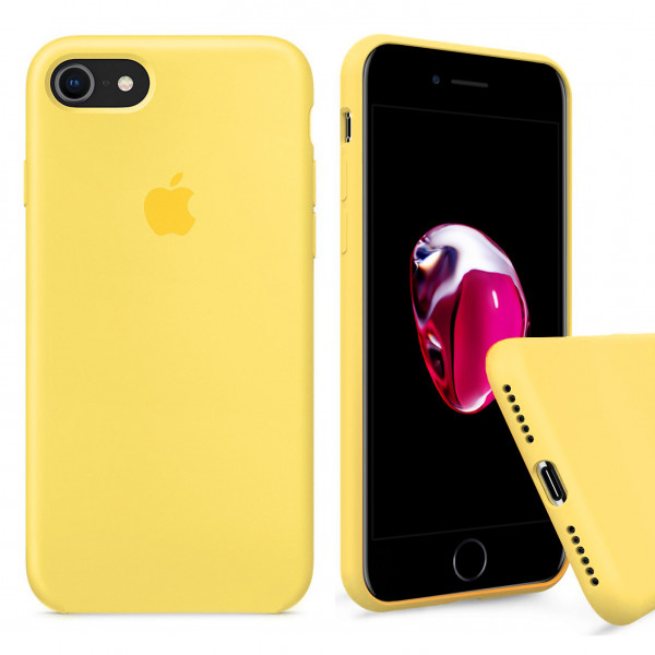 Чехол Silicone Case Full на iPhone 7 / 8 / SE (2020) (Yellow)