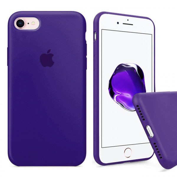 Чехол Silicone Case Full на iPhone 7 / 8 / SE (2020) (Purple)