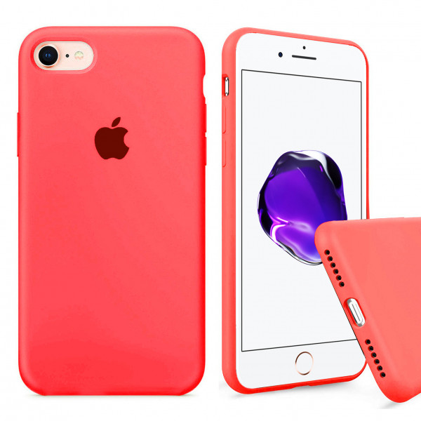 Чехол Silicone Case Full на iPhone 7 / 8 / SE (2020) (Electric Pink)