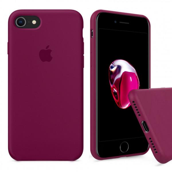 Чехол Silicone Case Full на iPhone 7 / 8 / SE (2020) (Rose Red)