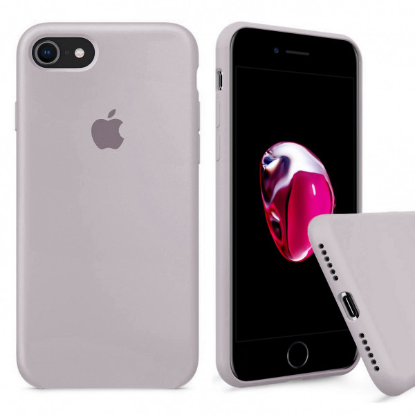 Чехол Silicone Case Full на iPhone 7 / 8 / SE (2020) (Lavender)