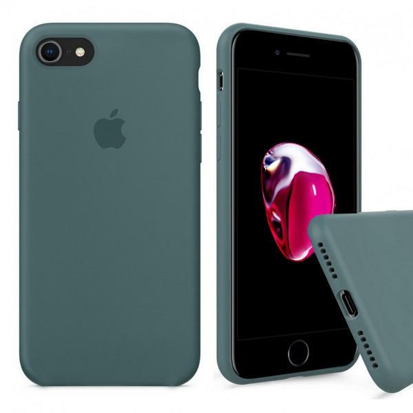Чехол Silicone Case Full на iPhone 7 / 8 / SE (2020) (Pine Green)