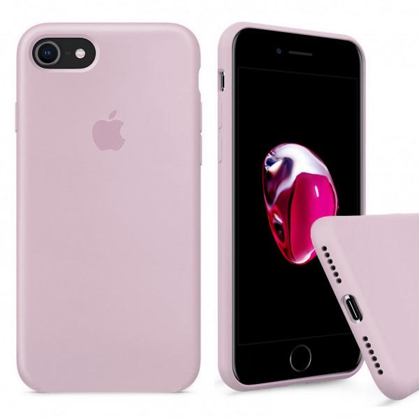 Чехол Silicone Case Full на iPhone 7 / 8 / SE (2020) (Pink Sand)