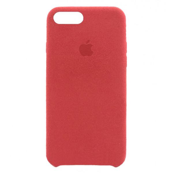 Замшевый чехол для iPhone 7 Plus / 8 Plus Alcantara (Red)