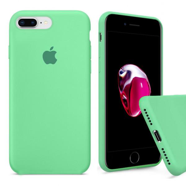 Чехол Silicone Case Full для iPhone 7 Plus / 8 Plus (Spearmint)