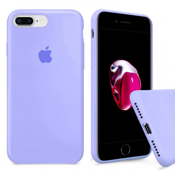 Чехол Silicone Case Full для iPhone 7 Plus / 8 Plus (Lilac Cream)