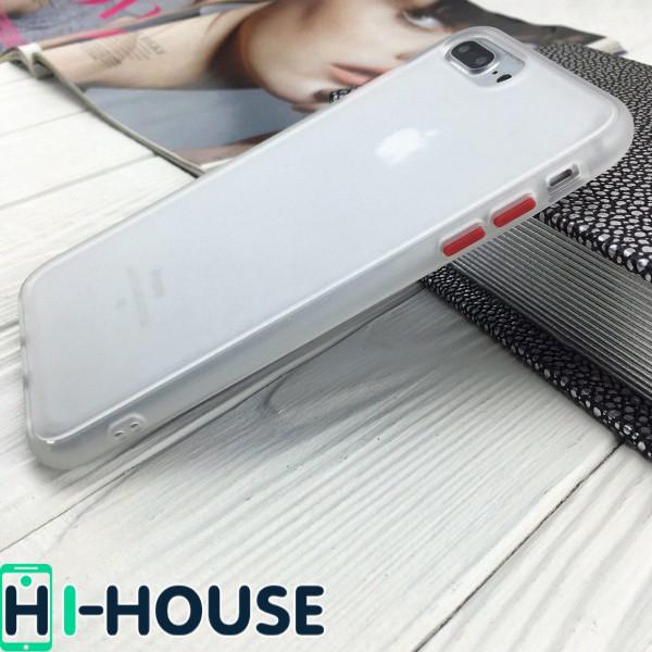 Чехол Gingle Series Case на iPhone 8 Plus/7 Plus (Transparent Red)