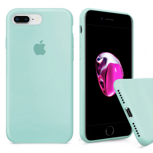 Чехол Silicone Case Full для iPhone 7 Plus / 8 Plus (Mint)