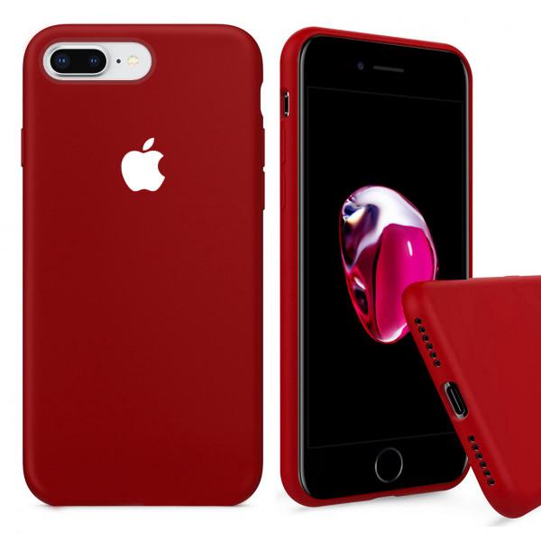 Чехол Silicone Case Full для iPhone 7 Plus / 8 Plus (Camellia White)