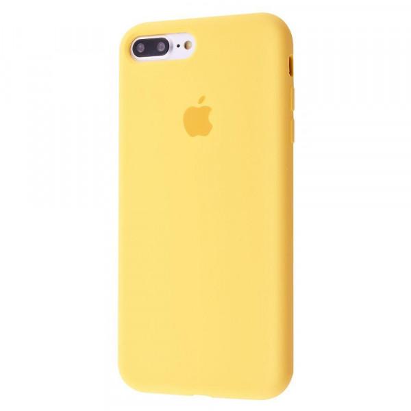 Чехол Silicone Case Full для iPhone 7 Plus / 8 Plus (Yellow)