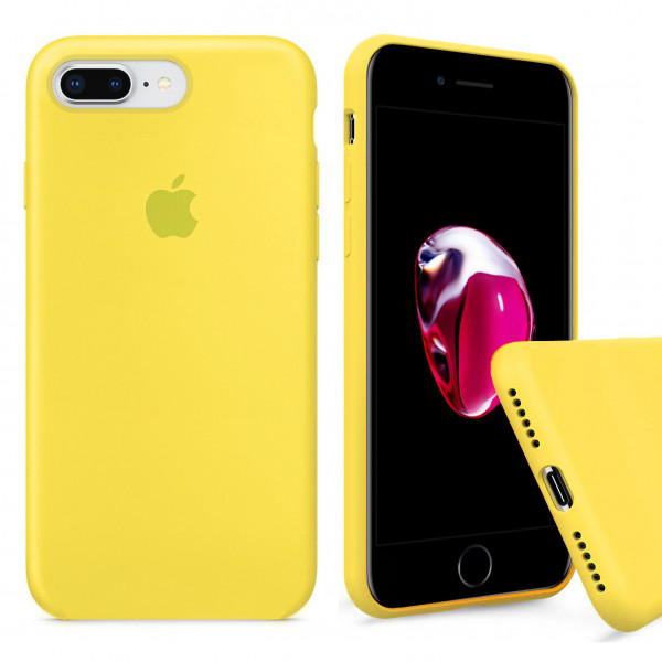 Чехол Silicone Case Full для iPhone 7 Plus / 8 Plus (Canary Yellow)