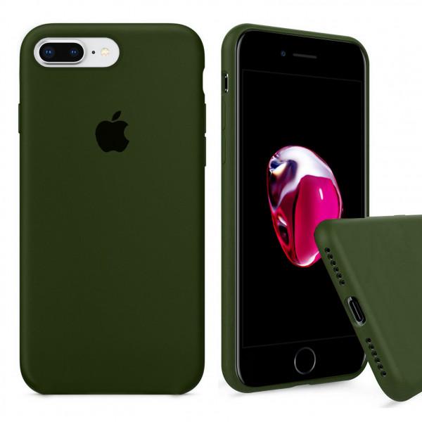Чехол Silicone Case Full для iPhone 7 Plus / 8 Plus (Oliva)