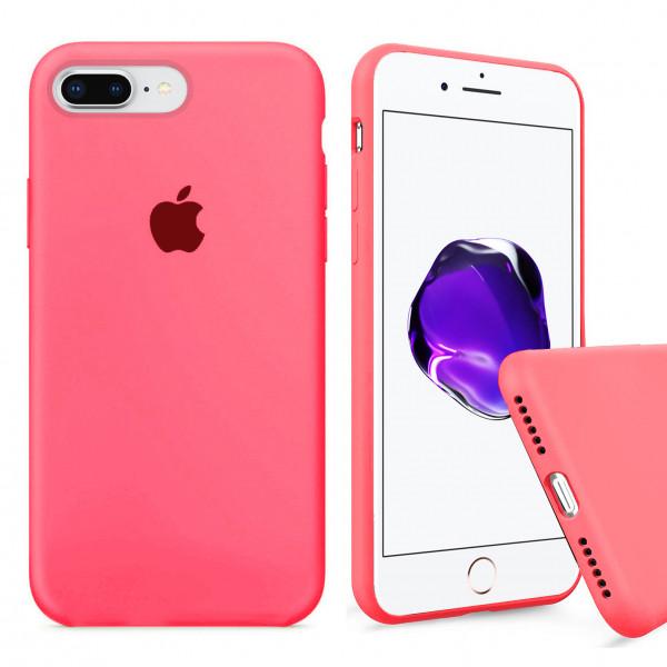 Чехол Silicone Case Full для iPhone 7 Plus / 8 Plus (Coral)