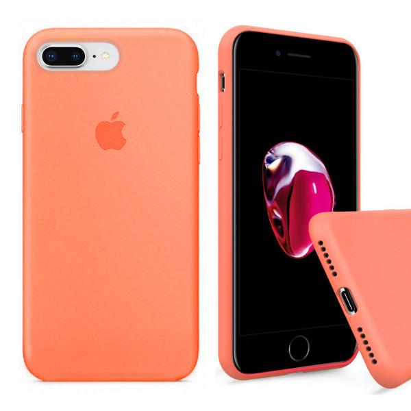 Чехол Silicone Case Full для iPhone 7 Plus / 8 Plus (Papaya)
