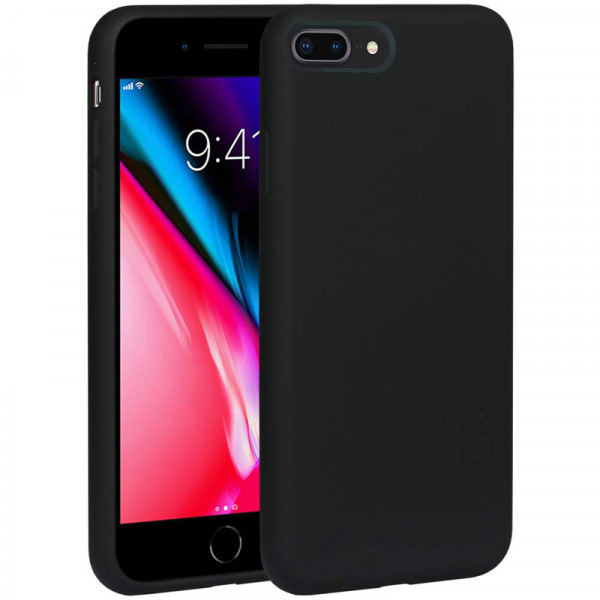 Чехол Silicone Case Full для iPhone 7 Plus / 8 Plus (Black)